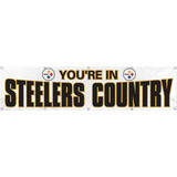 Party Animal Steelers Country White Giant 8' Banner