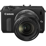 Canon EOS M 18 Megapixel Mirrorless Camera (Body with Lens Kit) - 18 mm - 55 mm - Black