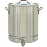 Bayou Classic 64 Quart Stainless Steel Stockpot with Spigot - 1064 - 1064