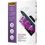 Fellowes Glossy SuperQuick Pouches - Letter, 3 mil, 100 pack