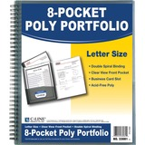 C-Line 8-Pocket Spiral-Bound Poly Portfolio, Smoke, 1/EA, 33081