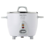 Aroma Simply Stainless 6-Cup Rice Cooker - ARC753SG