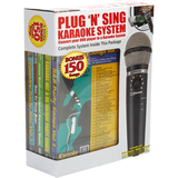 Emerson Plug N Play Karaoke Microphone System With 150 Songs On DVD