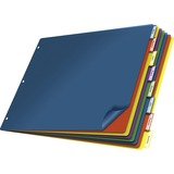 """Cardinal 11"""" x 17"""" Poly Insertable Dividers, 8-Tab, Multi-Color 84803"""