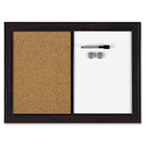 Quartet Espresso Combination Dry Erase/Cork Board