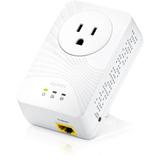 Zyxel 500 Mbps Mini Powerline Pass-Thru Ethernet Adapter PLA4211KIT