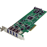 StarTech.com 4 Independent Port PCI Express SuperSpeed USB 3.0 Controller Card Adapter with UASP - SATA Power PEXUSB3S400