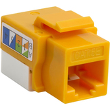 4XEM Cat5e RJ45 Keystone Jack UTP 110-Type (Yellow)