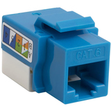4XEM Cat6 RJ45 Keystone Jack UTP 110-Type (Blue)