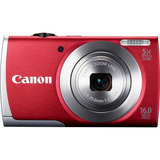 Canon PowerShot A2600 16 Megapixel Compact Camera - Red 8159B005