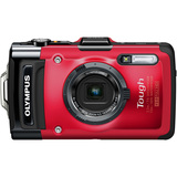 Olympus Tough TG-2 iHS 12 Megapixel Compact Camera - Red V104120RU000