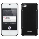 Qmadix Metalix Snap-On Cover Apple iPhone 4S, 4, Blk