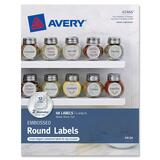 "Avery Embossed Round Labels 41466, Matte Silver Foil, 2"" Diameter, Pac - 41466"