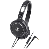 Audio-Technica ATH-WS55iBK Solid Bass Over-Ear Headset for iPod/iPhone/iPad