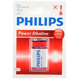 Philips Power Alkaline Battery 6LR61P1B 9V Alkaline 6LR61P1B/27