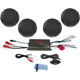Pyle 4 Channel 800 Watt Waterproof Micro Marine Amplifier & 6.5'' Speaker System