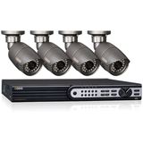 Q-see 4 Channel SDI | 4 SDI Cameras | 1080p Resolution | 50ft of Night Vision QT714-480-1