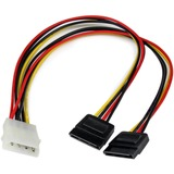 StarTech.com 12in LP4 to 2x SATA Power Y Cable Adapter PYO2LP4SATA