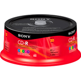 Sony CD Recordable Media - CD-R - 48x - 700 MB - 30 Pack Spindle 30CDQ80XP