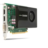 HP Quadro K2000 Graphic Card - 2 GB GDDR5 SDRAM - PCI Express C2J93AT