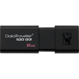 Kingston DataTraveler 100 G3 8 GB USB 3.0 Flash Drive - Black DT100G3/8GBCR