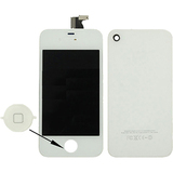 4XEM Replacement LCD Screen/Touch Digitizer/Back Cover Kit For iPhone4/4S (White)