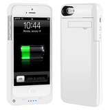4XEM External Backup iPhone 5 Battery Case/Cover (White)