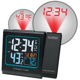 La Crosse Technology Atomic Projection Alarm Clock with IN/OUT Temperature and USB Charging