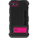 Ballistic Hard Core Carrying Case (Holster) for iPhone - Hot Pink, Black