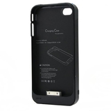 4XEM External Backup iPhone 4/4S Battery Case/Cover (Black)
