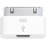 4XEM 30-Pin To Micro USB Female for iPhone/iPod/iPad
