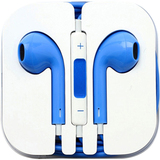 4XEM Blue Earphones For iPhone/iPod/iPad