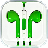 4XEM Green Earphones For iPhone/iPod/iPad