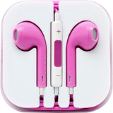 4XEM Pink Earphones For iPhone/iPod/iPad
