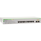 Allied Telesis 10-Port 10/100/1000T WebSmart Switch with 2 SFP Combo Ports and PoE+