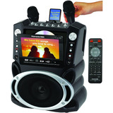 """Karaoke GF829 DVD/CD+G/MP3+G Karaoke System with 7"""" TFT Color Screen and Record Function"""