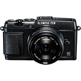 Olympus PEN E-P5 16.1 Megapixel Mirrorless Camera (Body with Lens Kit) - 17 mm - Black V204053BU000