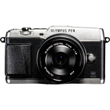 Olympus PEN E-P5 16.1 Megapixel Mirrorless Camera (Body with Lens Kit) - 17 mm - Silver V204053SU000