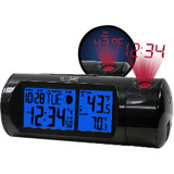 La Crosse Technology Projection Alarm Clock with IN/OUT Temp and Sound-Activated Backlight