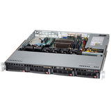 Supermicro SuperServer 5018D-MTLN4F Barebone System - 1U Rack-mountable - Intel C224 Chipset - Socket H3 LGA-1150 - 1 x Processor Support - Black