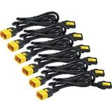 APC Power Cord Kit (6 ea), Locking, C13 to C14, 0.6m, North America