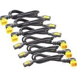 APC Power Cord Kit (6 ea), Locking, C13 to C14 (90 Degree), 1.2m, North America
