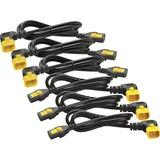 APC Power Cord Kit (6 ea), Locking, C13 to C14 (90 Degree), 1.8m, North America