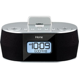 iHome iDN38SX Clock Radio - Stereo - Apple Dock Interface iDN38SX