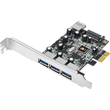 SIIG DP USB 3.0 4-Port PCIe i/e - Value JU-P40611-S1