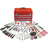 click for Full Info on this Apollo 297 Piece All Purpose Mechanics Tool Kit in Three Drawer Steel Tool Box