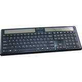 "Compucessory Wireless Solar Keyboard, 16-1/8""x6""x7/8"", Black"