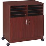 LLR60266 - Lorell 2-Door Mobile Machine Stand w/Sorter