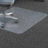 Lorell Polycarbonate Rectangular Studded Chair Mat