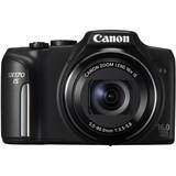 Canon PowerShot SX170 IS 16 Megapixel Compact Camera - Black